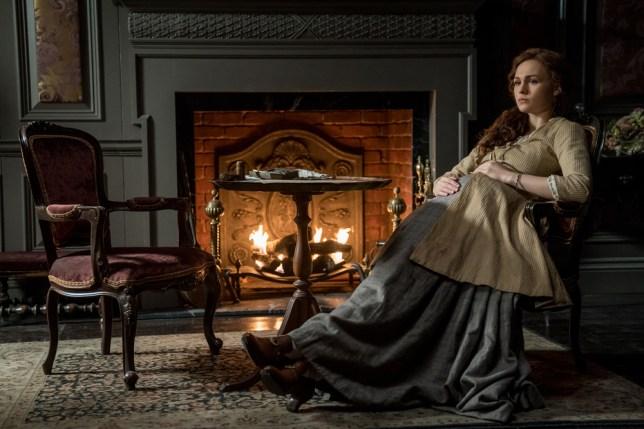 Brianna's baby bump is showing in Outlander Season 4