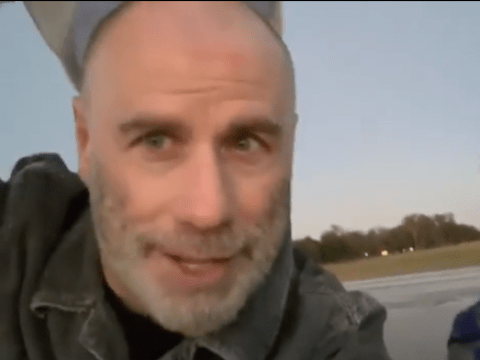 John Travolta gives another glimpse at his bald look as he thanks fans for their support with the new hairstyle
