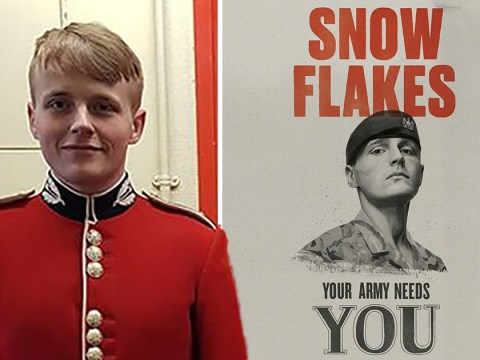 Soldier 'to quit Army' after his face is used in snowflake advert