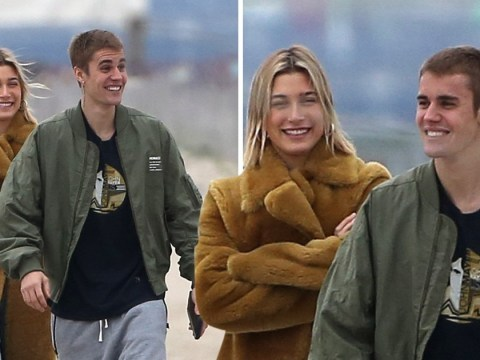 Justin Bieber cracks up wife Hailey Baldwin as honeymoon glow continues to shine on beach stroll