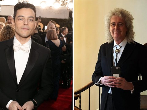 Rami Malek is ready to party with Brian May and Roger Taylor at Golden Globes 2019 as he celebrates Bohemian Rhapsody