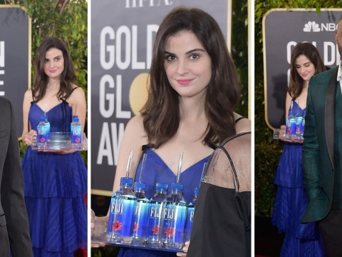 Fiji Water Girl swears she wasn't thinking evil thoughts at Golden Globes as she explains her epic photobombs