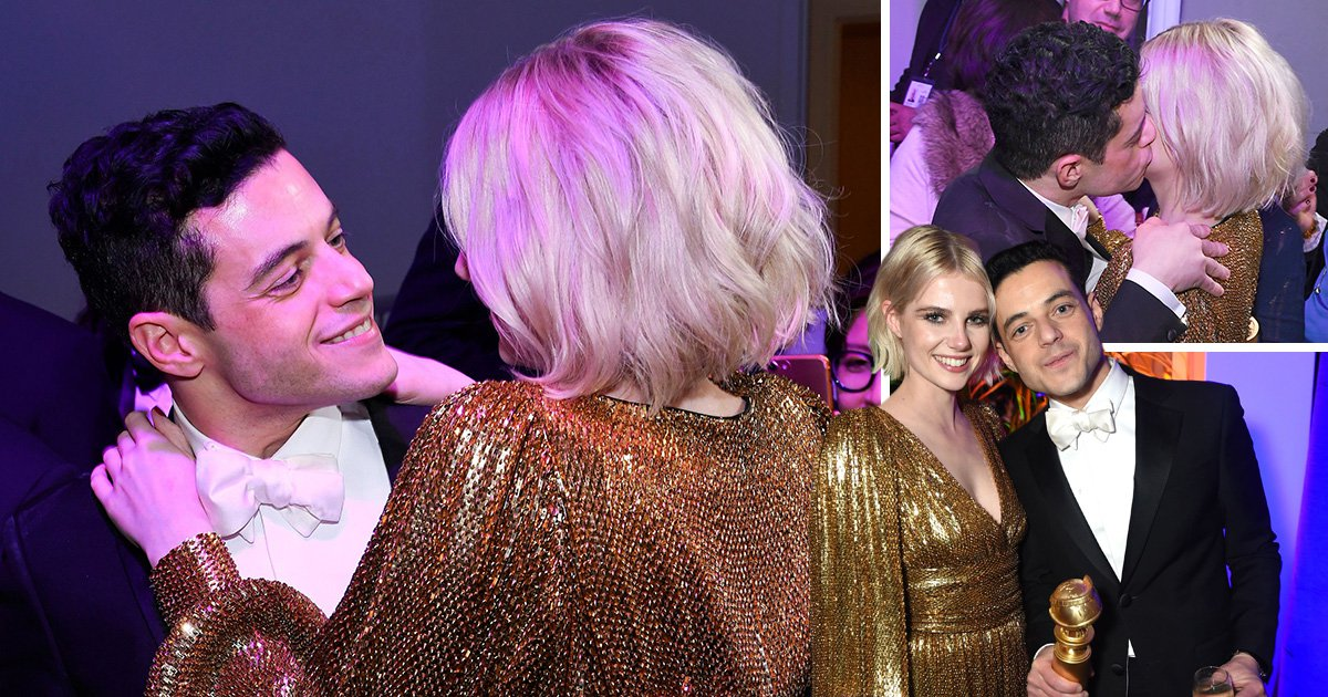 Bohemian Rhapsody couple Rami Malek and Lucy Boynton are the cutest as they unite at Golden Globes