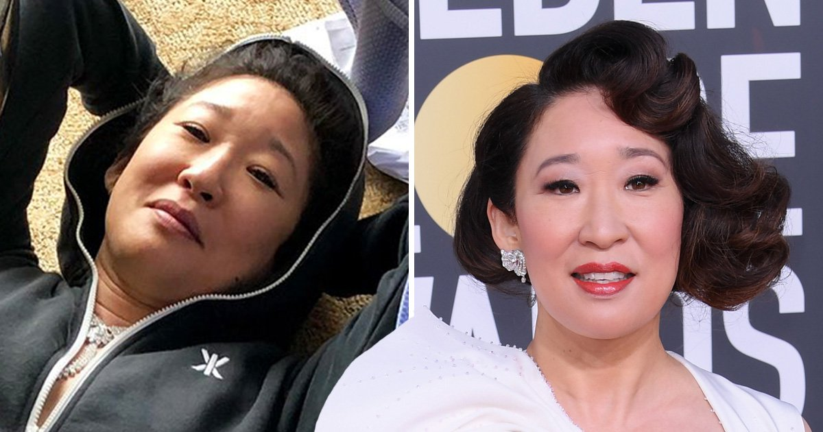 Sandra Oh is highly relatable as she crashes out on floor after hosting Golden Globes