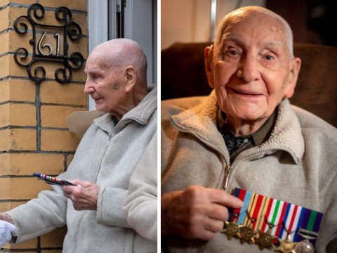 War veteran reunited with medals he lost 70 years ago on his 100th birthday
