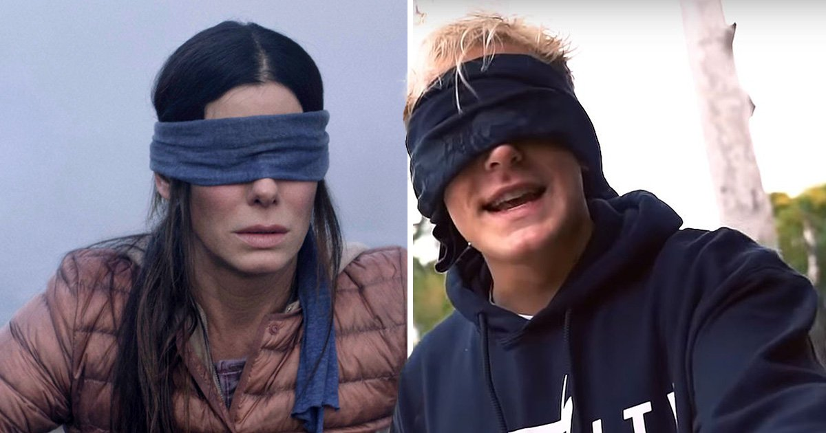 Jake Paul walks into incoming traffic blindfolded as he ignores warnings and attempts ill-advised Bird Box challenge
