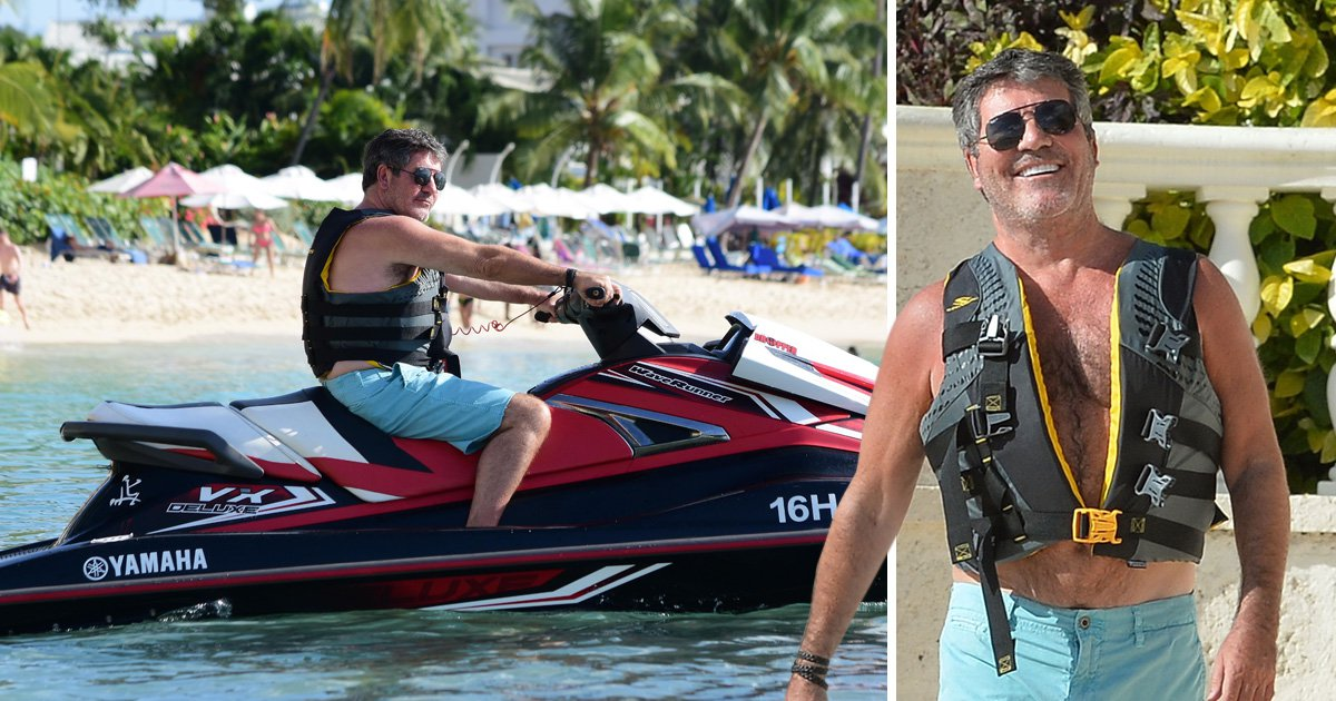 Simon Cowell flashes blinding grin on his never-ending holiday after reuniting with Susan Boyle