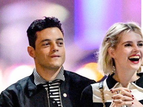 Rami Malek and Lucy Boynton are all smiles after Bohemian Rhapsody cast partied all night for Globes success
