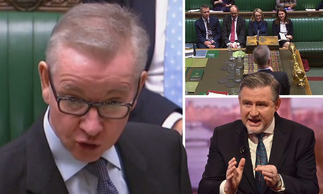 Michael Gove openly talks 'b***ocks' in Parliament