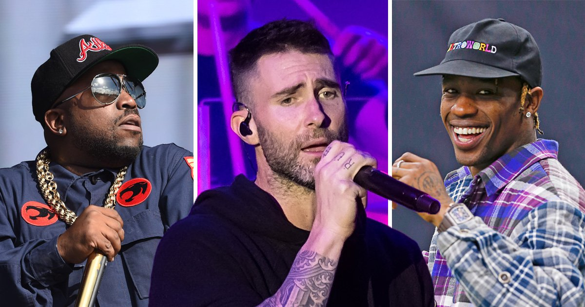 Big Boi, Maroon 5 and Travis Scott will take to the Super Bowl stage