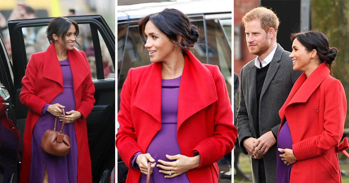 Meghan accidentally lets slip when she is due as she chats with royal fans
