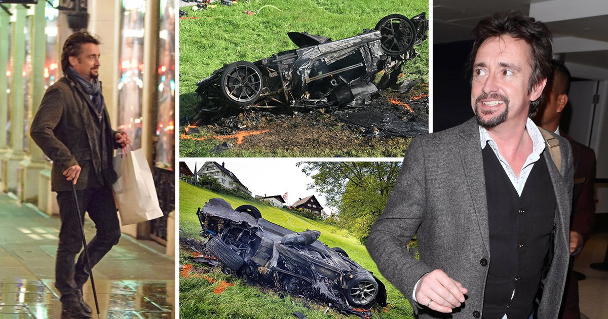 Richard Hammond thinks walking with a cane is kind of 'cool' and 'authoritative' after Grand Tour crash