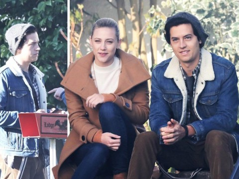 Riverdale's Lili Reinhart and Cole Sprouse pictured together on-set after show drops next level death