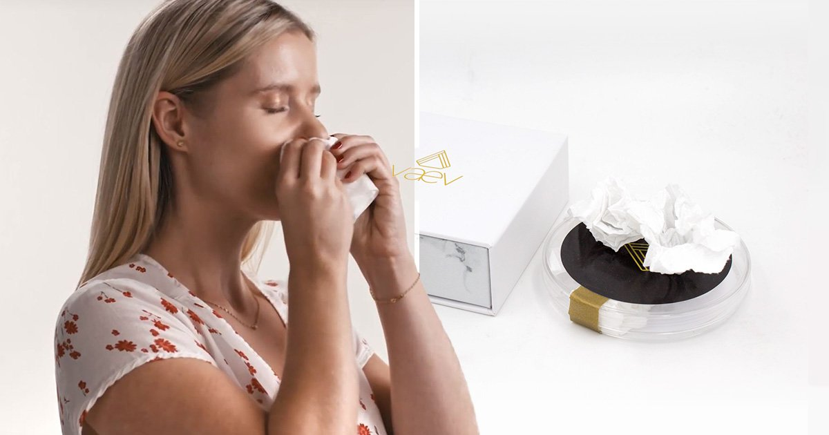Company sells used tissues which 'carry a human sneeze' for £62