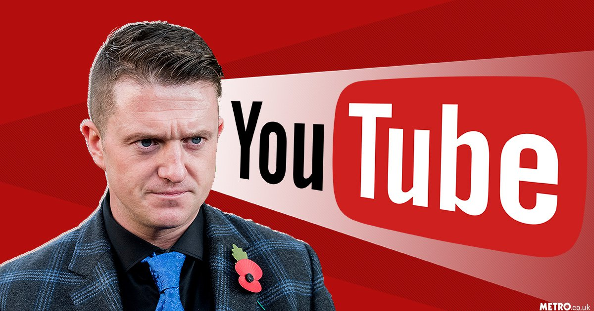 YouTube bans Tommy Robinson from making money on ads