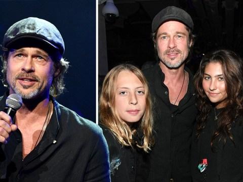 Brad Pitt turns up to support Chris Cornell's children at memorial concert