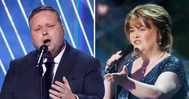 Paul Potts joins Susan Boyle as he returns to America's Got Talent: The Champions
