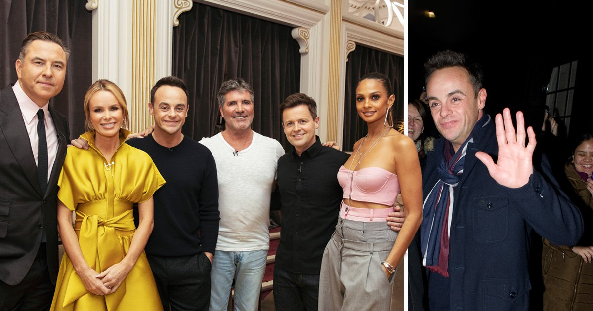 Ant McPartlin beams as first day back on Britain's Got Talent wraps – after emotional on-stage reunion with Dec left everyone in tears