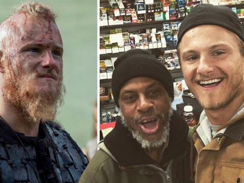 Vikings star Alexander Ludwig 'pays it forward' for homeless man inspiring fans to do the same