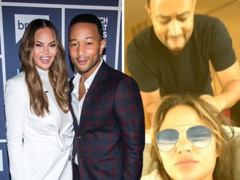 John Legend takes Instagram husband duties to the next level as he untangles Chrissy Teigen's ponytail