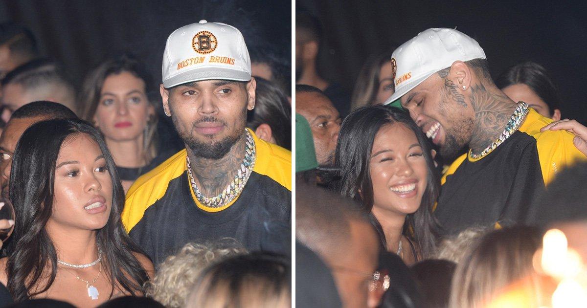 Chris Brown parties in Paris with girlfriend Ammika Harris hours before rape allegations emerge