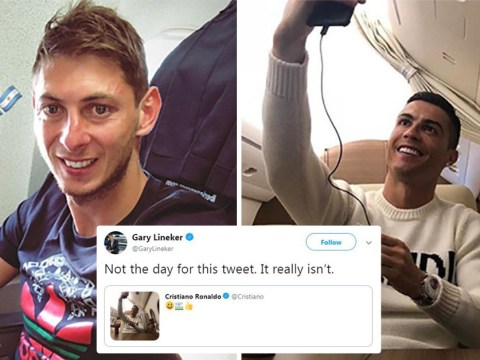 Cristiano Ronaldo criticised for private jet selfie on day Emiliano Sala's plane vanished