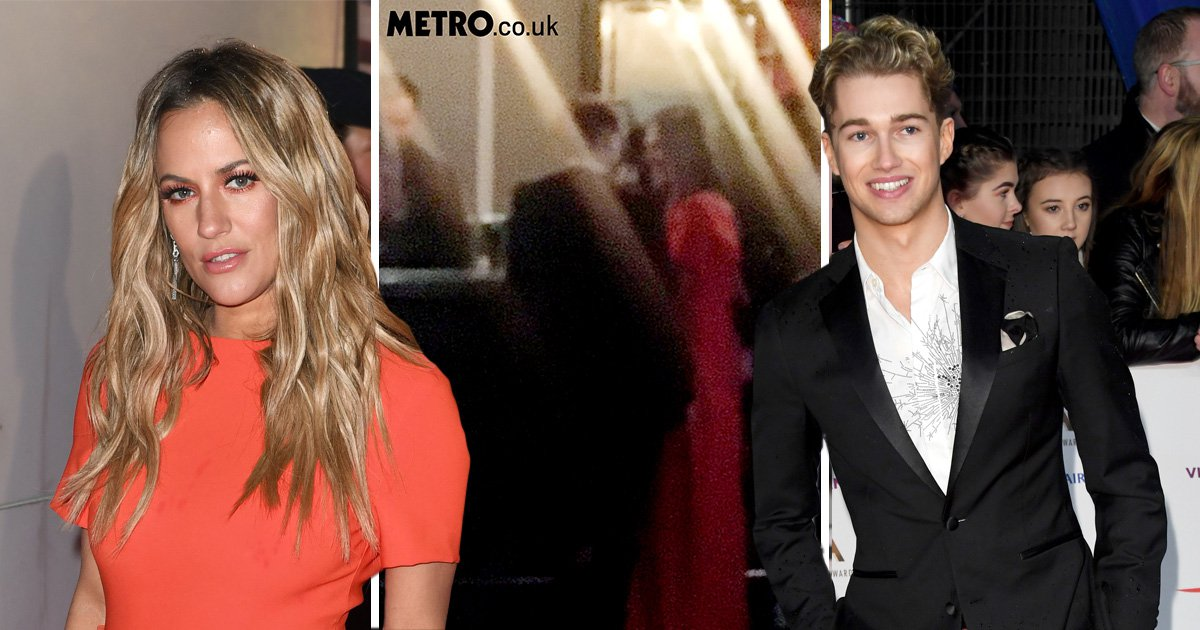 Caroline Flack and AJ Pritchard spotted kissing at NTAs as they form new Strictly power couple