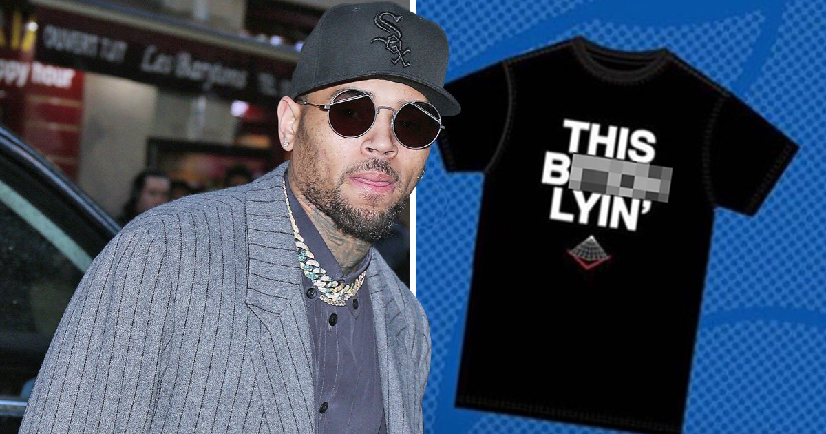 Chris Brown selling 'this b***h lying' t-shirts as he files defamation lawsuit against rape accuser