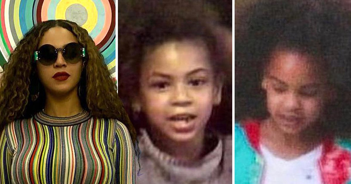 Blue Ivy looks identical to Beyonce in side-by-side Instagram childhood photo
