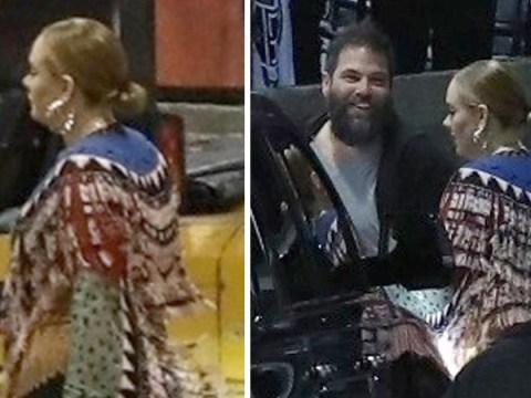 Adele gets glam with husband Simon Konecki as they attend Elton John concert
