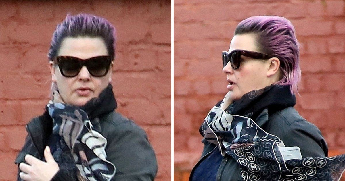 Lisa Armstrong debuts purple hair as she moves on from Ant McPartlin split