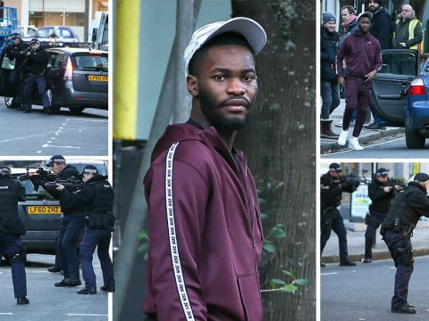 Intense armed police scenes for Drake's Top Boy as series 3 filming gets underway