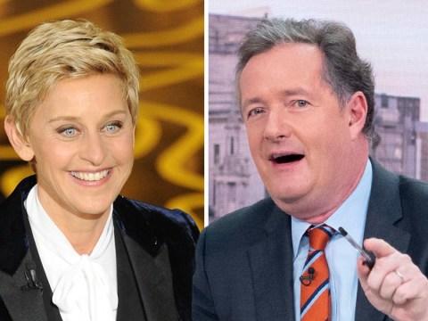 Piers Morgan rips into 'hopeless' Ellen DeGeneres as he backs Ricky Gervais to host the Oscars 2019