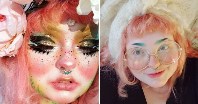 Plus-size woman uses makeup to turn herself into a 'living art doll'