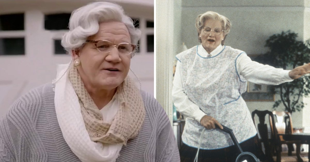 Gordon Ramsay is unrecognisable in drag as he channels inner Mrs Doubtfire for 24 Hours To Hell And Back