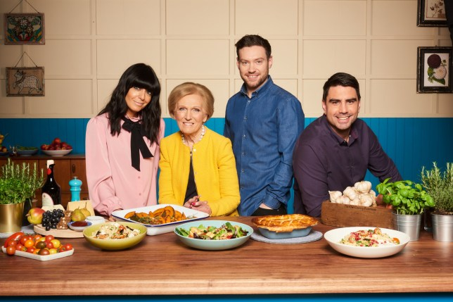 Television programme : Britain?s Best Home Cooks. (L to R) Claudia Winkleman, Mary Berry, Dan Doherty and Chris Bavin Copyright: BBC