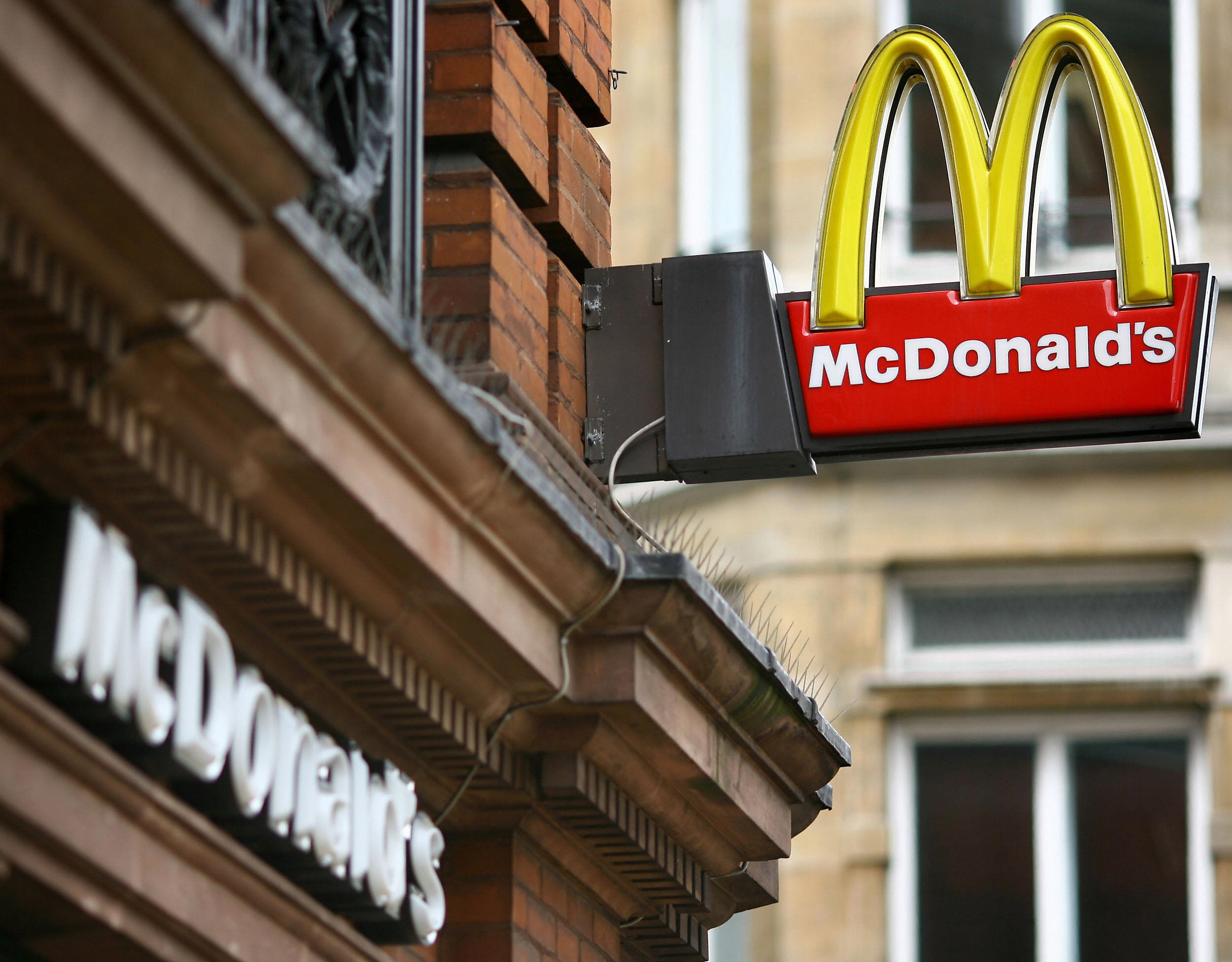 A McDonald's fast food store is pictured in central London on August 6, 2008. McDonald's launched a campaign on August 6 to recruit 4,000 staff in Britain to satisfy the demand from cash-strapped customers flocking to its restaurants as the credit crunch bites hard. As the rest of the British economy hits turbulent times, the fast food giant said it was serving an extra two million meals a month compared with this time last year. AFP PHOTO/Ben Stansall (Photo credit should read BEN STANSALL/AFP/Getty Images)