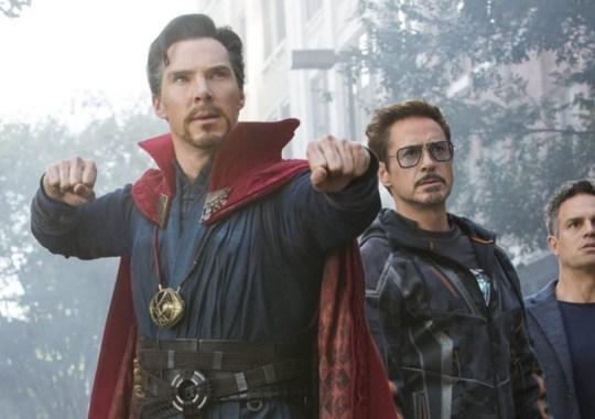 Avengers: Endgame's Iron Man (Robert Downey Jr) and Doctor Strange (Benedict Cumberbatch)