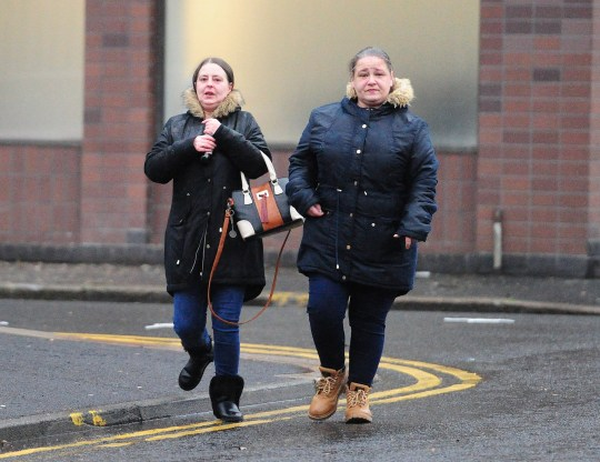 (Left) - Margaret Wade and (Right) - Marie Sweeney at the High Court Glasgow. The couple admitted neglecting three children in their care - one - Lauren subsequently died from the complications of malnutrition. Sentence deferred. See Glasgow Courts. Pic by Mike Gibbons/Spindrift