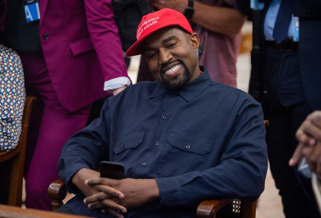 Rapper Kanye West speaks during his meeting with US President Donald Trump in the Oval Office of the White House in Washington, DC, on October 11, 2018. (Photo by SAUL LOEB / AFP) (Photo credit should read SAUL LOEB/AFP/Getty Images)