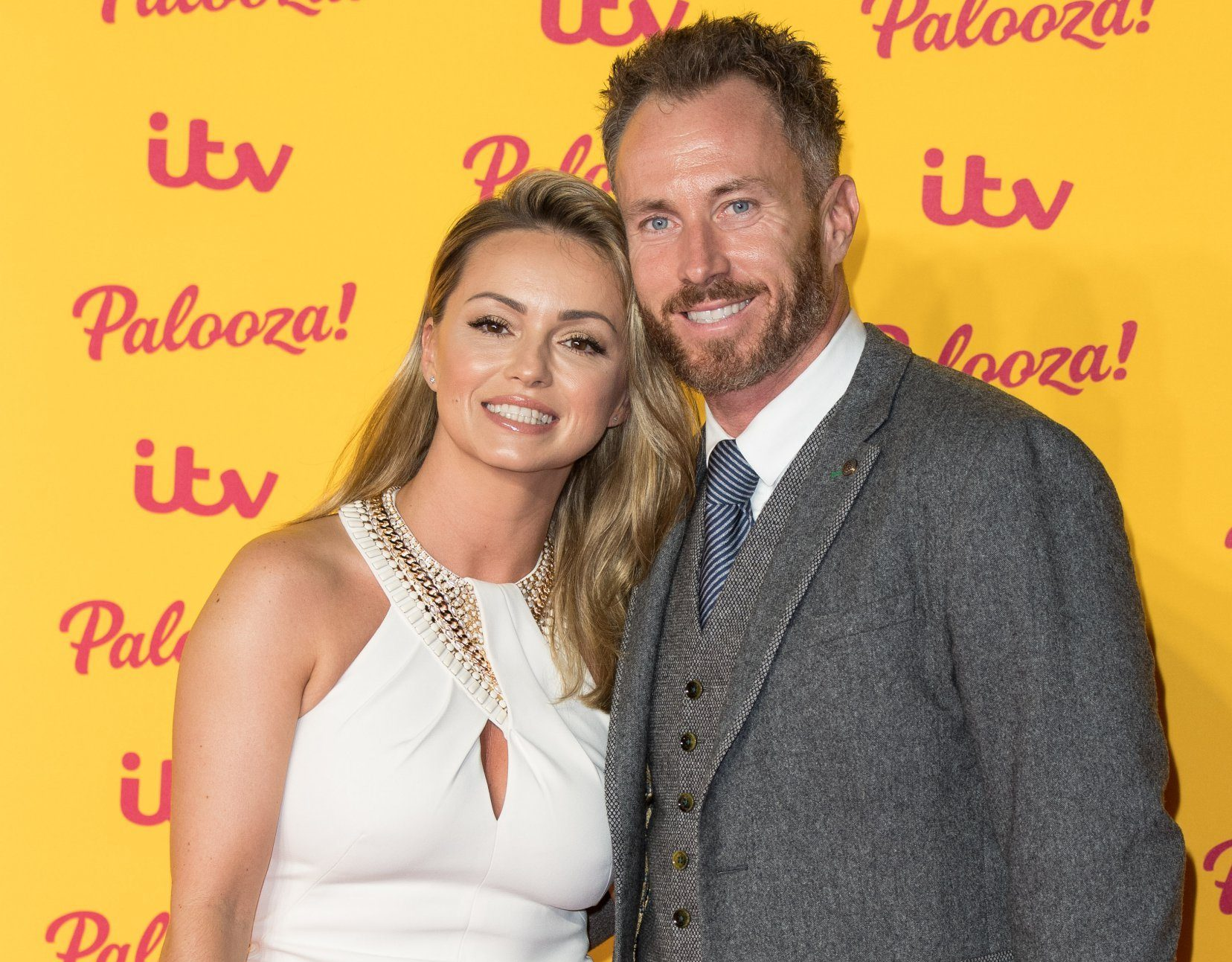 LONDON, ENGLAND - OCTOBER 16: (L-R) Ola Jordan and James Jordan attend the ITV Palooza! held at The Royal Festival Hall on October 16, 2018 in London, England. (Photo by Jeff Spicer/WireImage)