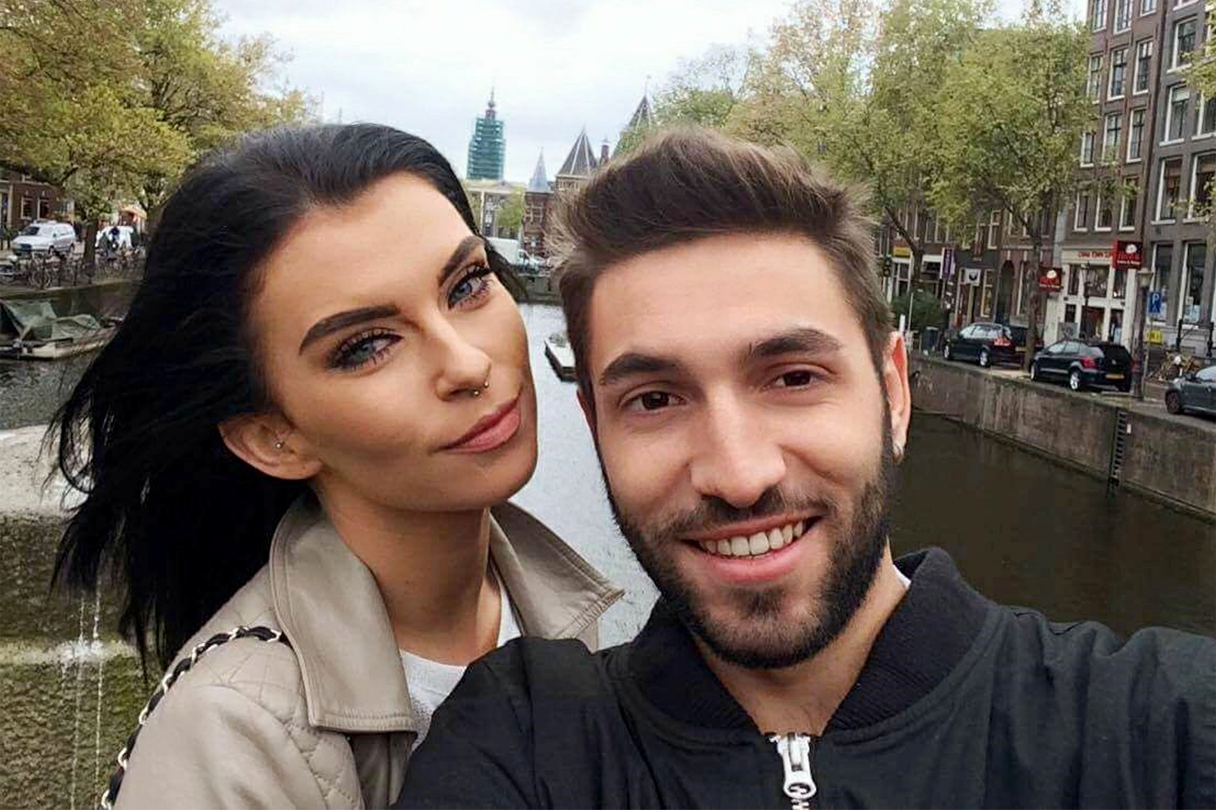 Pic by Caters News - (Pictured: Amsterdam was one of their first city breaks ) - A couple have praised Google translate for their blossoming romance after the pair fell in love despite not speaking the same language.Chloe Smith, 23 and her now boyfriend, Daniele Marisco, 25 from Naples, Italy, first met at a nightclub in Ibiza - and not only could they barely hear one another above the techno music but they also couldnt speak a word of the same language. But after falling in love at first sight, the couple, soon realised they could communicate through using a Google translator and watching videos with subtitles. Now, two years later, Chloe and Daniele, have learnt to speak both Italian and English in a bid to ensure their relationship lasts. They are now living together in Streatham, London where Chloe is a makeup artist and Daniele is a bartender in an Italian restaurant. The pair are now sharing their story to show others that relationships can work, even when theres a language barrier. SEE CATERS COPY.