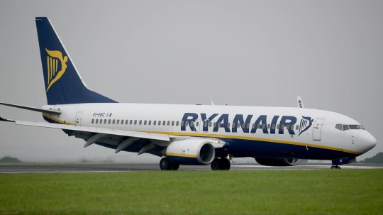 Embargoed to 0001 Saturday January 05 File photo dated 25/08/16 of a Ryanair plane. The budget airline has been named the worst airline serving UK airports for the sixth year in a row.