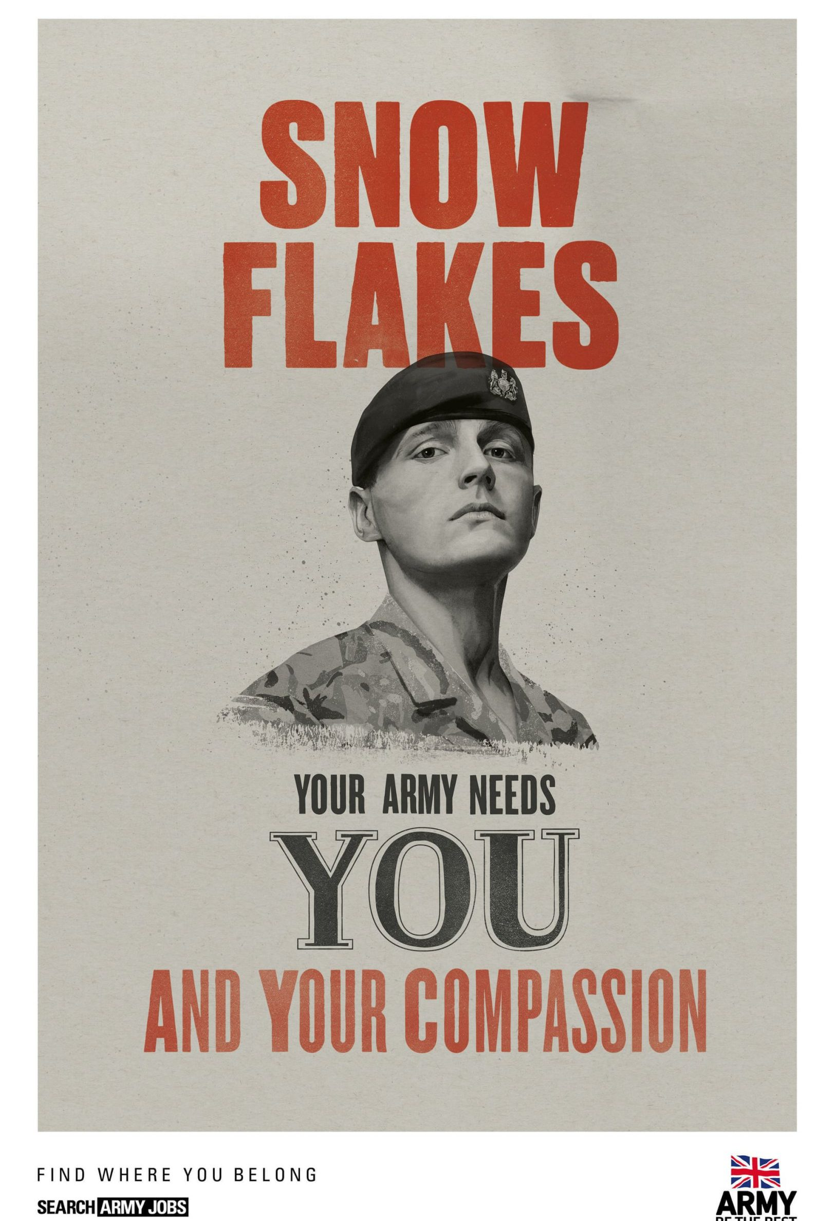 Picture: Army Guardsman to resign over snowflake army ad