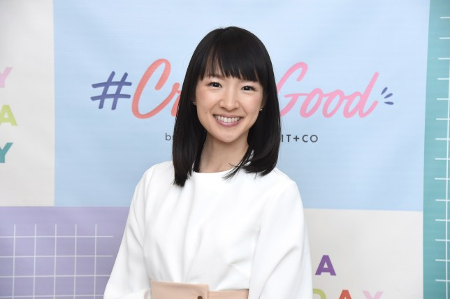 NEW YORK, NY - OCTOBER 18: Organizing consultant and author Marie Kondo visits the Brit+ Co #CreateGood Wellness event at Build Studio on October 18, 2018 in New York City. (Photo by Gary Gershoff/WireImage)