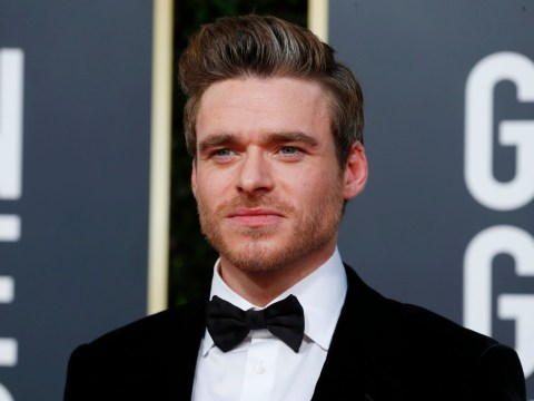 Richard Madden thanks Keeley Hawes as he wins his first Golden Globe for Bodyguard