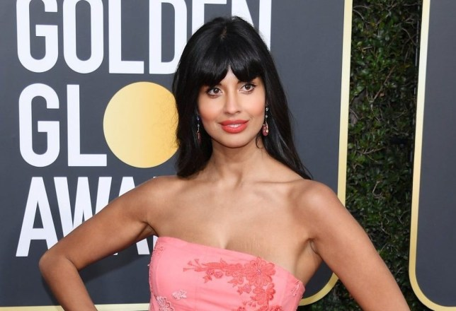 BEVERLY HILLS, CA - JANUARY 06: Jameela Jamil attends the 76th Annual Golden Globe Awards at The Beverly Hilton Hotel on January 6, 2019 in Beverly Hills, California. (Photo by Daniele Venturelli/WireImage)