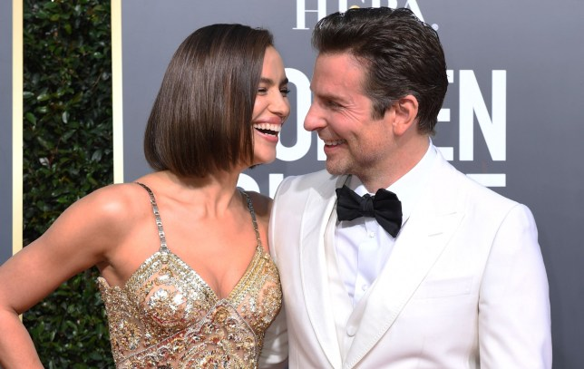Bradley Cooper and Irina Shayk at the Golden Globes