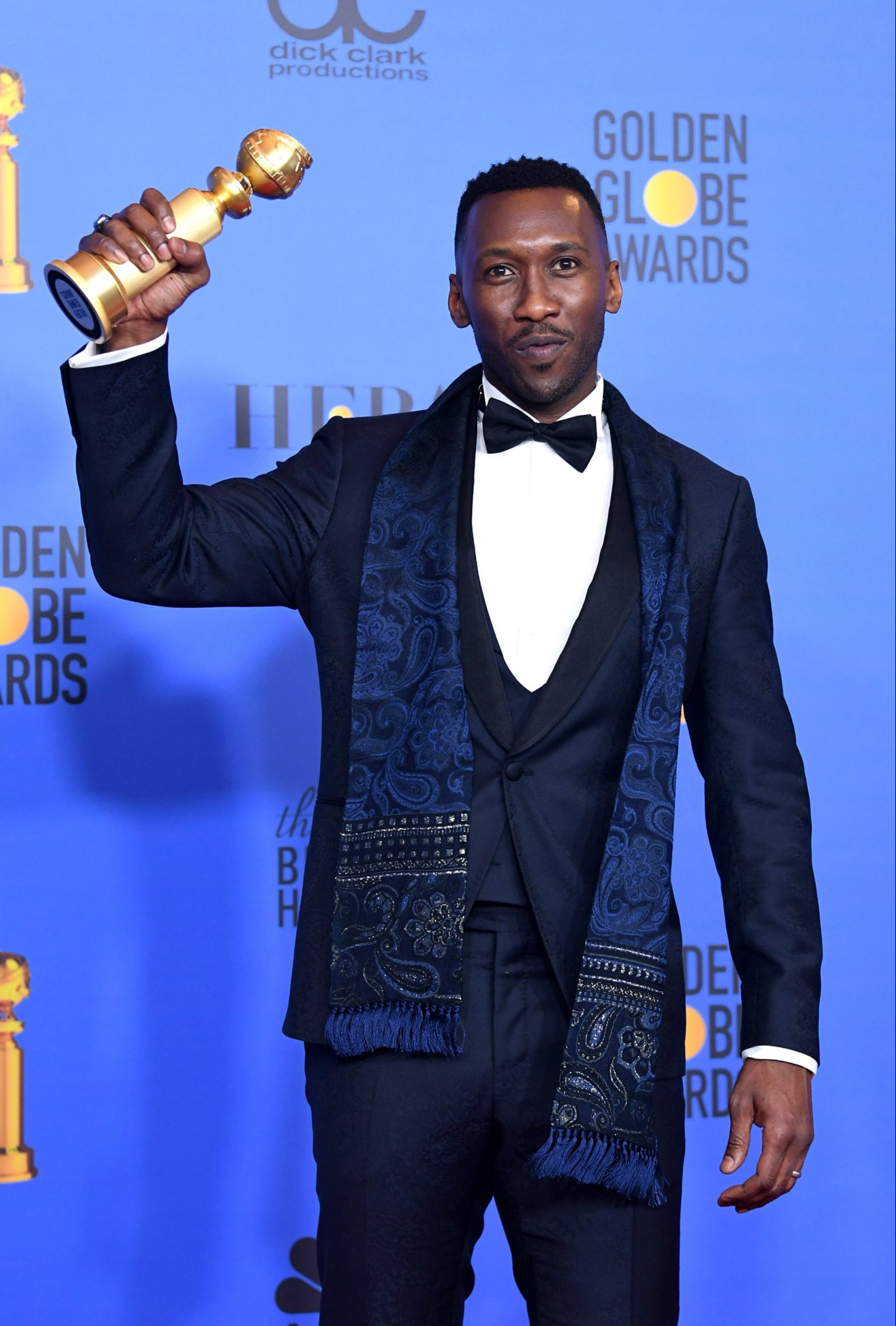 BEVERLY HILLS, CA - JANUARY 06: Best Actor in a Supporting Role in any Motion Picture for 'The Green Book' winner Mahershala Ali poses in the press room during the 76th Annual Golden Globe Awards at The Beverly Hilton Hotel on January 6, 2019 in Beverly Hills, California. (Photo by Kevin Winter/Getty Images)