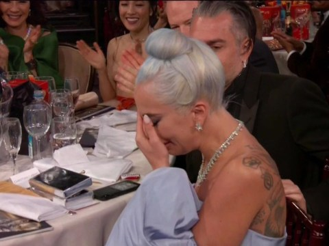 Lady Gaga breaks down in tears after winning at 2019 Golden Globes